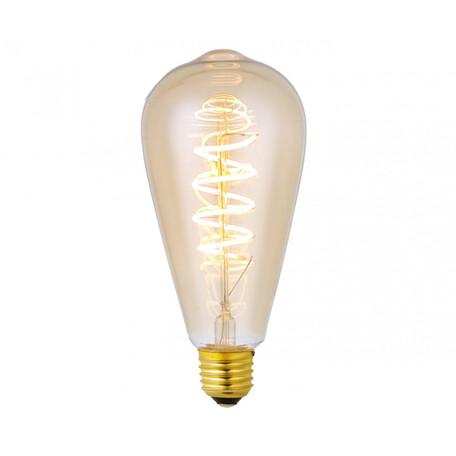 Филаментная светодиодная лампа Kink Light 098646D,33 прямосторонняя груша E27 6W, 2200K (теплый) 220V