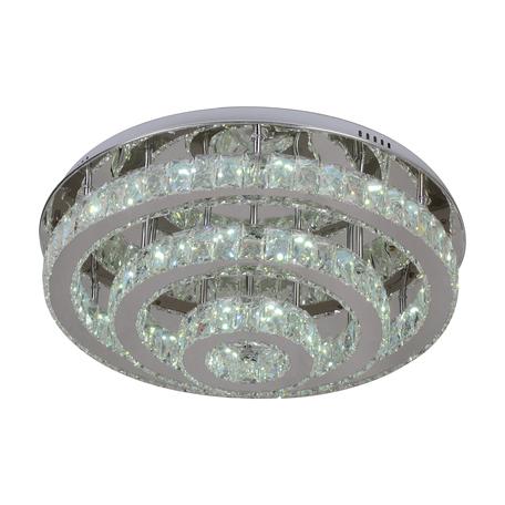 Потолочная светодиодная люстра с пультом ДУ Kink Light Тор-Кристалл 08554(3000-6000К) 3000-6000K