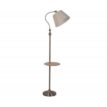 Торшер со столиком Kink Light Гавана 07037, 1xE27x40W, бронза, бежевый, металл, текстиль