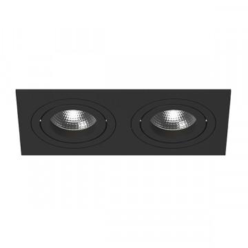 Встраиваемый светильник Lightstar Intero 16 i5270707, 2xGU10x50W, черный, металл
