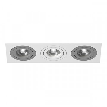 Встраиваемый светильник Lightstar Intero 16 i536090609, 3xGU10x50W, серый, металл