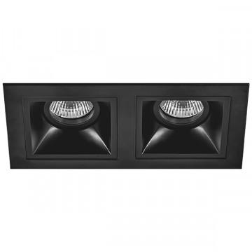 Встраиваемый светильник Lightstar Domino D5270707, 2xGU5.3x50W, черный, металл