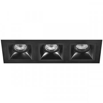 Встраиваемый светильник Lightstar Domino D537070707, 3xGU5.3x50W, черный, металл