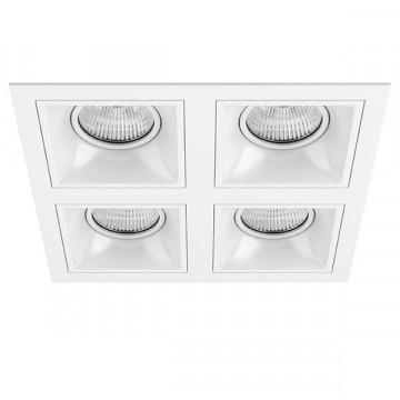 Встраиваемый светильник Lightstar Domino D54606060606, 4xGU5.3x50W, белый, металл