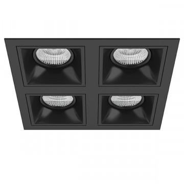Встраиваемый светильник Lightstar Domino D54707070707, 4xGU5.3x50W, черный, металл