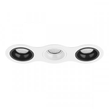 Встраиваемый светильник Lightstar Domino D636070607, 3xGU5.3x50W, черный, черно-белый, металл