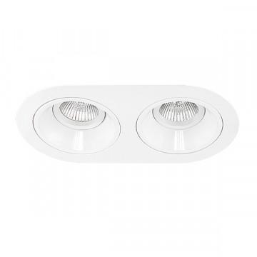 Встраиваемый светильник Lightstar Domino D6560606, 2xGU5.3x50W, белый, металл
