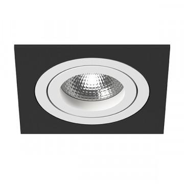Встраиваемый светильник Lightstar Intero 16 i51706, 1xGU10x50W, черный, черно-белый, металл