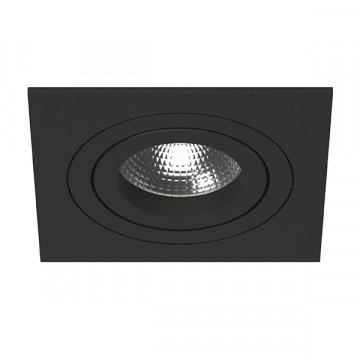 Встраиваемый светильник Lightstar Intero 16 i51707, 1xGU10x50W, черный, металл