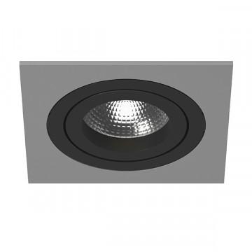 Встраиваемый светильник Lightstar Intero 16 i51907, 1xGU10x50W, черный, серый, металл