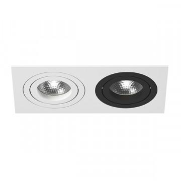Встраиваемый светильник Lightstar Intero 16 i5260607, 2xGU10x50W, черный, черно-белый, металл