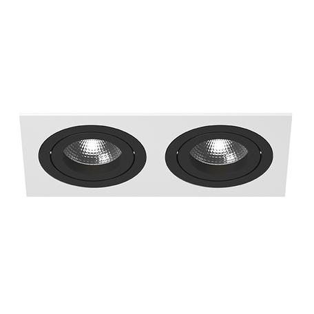 Встраиваемый светильник Lightstar Intero 16 i5260707, 2xGU10x50W, черный, черно-белый, металл