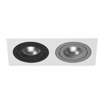 Встраиваемый светильник Lightstar Intero 16 i5260709, 2xGU10x50W, черный, серый, металл