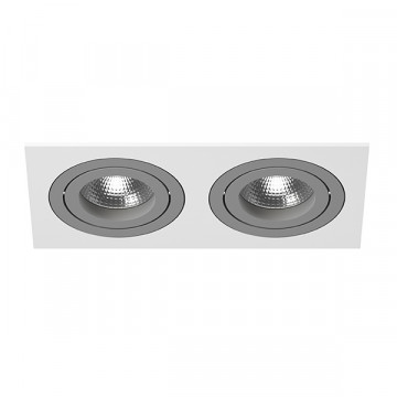 Встраиваемый светильник Lightstar Intero 16 i5260909, 2xGU10x50W, серый, металл