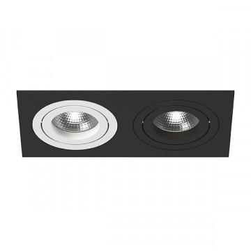 Встраиваемый светильник Lightstar Intero 16 i5270607, 2xGU10x50W, черный, черно-белый, металл
