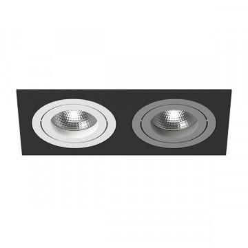 Встраиваемый светильник Lightstar Intero 16 i5270609, 2xGU10x50W, черный, металл