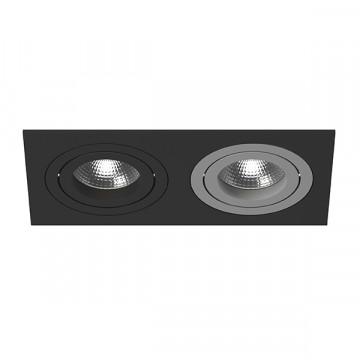 Встраиваемый светильник Lightstar Intero 16 i5270709, 2xGU10x50W, черный, металл