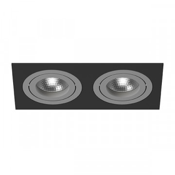 Встраиваемый светильник Lightstar Intero 16 i5270909, 2xGU10x50W, черный, серый, металл