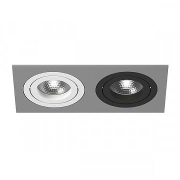 Встраиваемый светильник Lightstar Intero 16 i5290607, 2xGU10x50W, черный, серый, металл