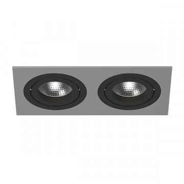 Встраиваемый светильник Lightstar Intero 16 i5290707, 2xGU10x50W, черный, серый, металл