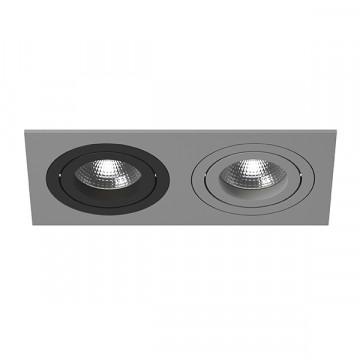 Встраиваемый светильник Lightstar Intero 16 i5290709, 2xGU10x50W, черный, серый, металл