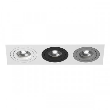Встраиваемый светильник Lightstar Intero 16 i536060709, 3xGU10x50W, черный, серый, металл