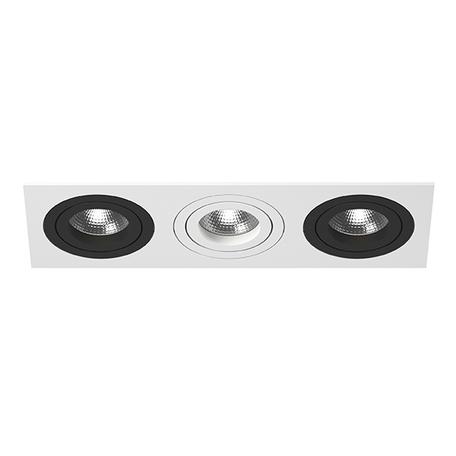 Встраиваемый светильник Lightstar Intero 16 i536070607, 3xGU10x50W, черный, черно-белый, металл