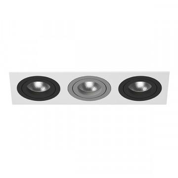Встраиваемый светильник Lightstar Intero 16 i536070907, 3xGU10x50W, черный, металл