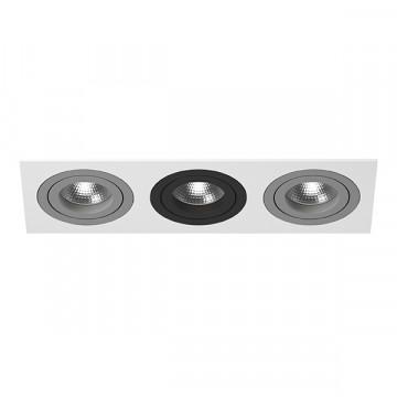 Встраиваемый светильник Lightstar Intero 16 i536090709, 3xGU10x50W, черный, черно-белый, металл