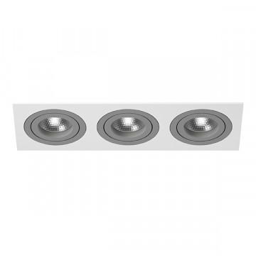 Встраиваемый светильник Lightstar Intero 16 i536090909, 3xGU10x50W, серый, металл