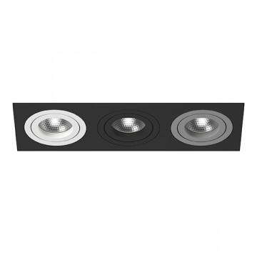 Встраиваемый светильник Lightstar Intero 16 i537060709, 3xGU10x50W, черный, металл