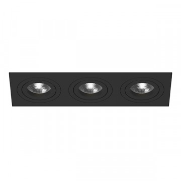 Встраиваемый светильник Lightstar Intero 16 i537070707, 3xGU10x50W, черный, металл