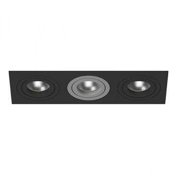 Встраиваемый светильник Lightstar Intero 16 i537070907, 3xGU10x50W, черный, металл