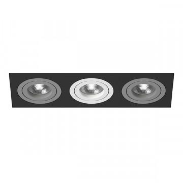 Встраиваемый светильник Lightstar Intero 16 i537090609, 3xGU10x50W, черный, металл