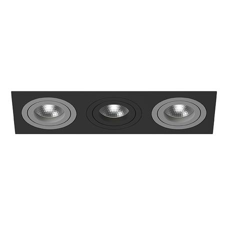 Встраиваемый светильник Lightstar Intero 16 i537090709, 3xGU10x50W, черный, металл