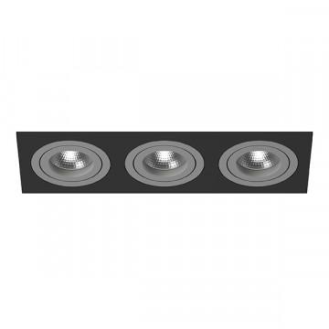 Встраиваемый светильник Lightstar Intero 16 i537090909, 3xGU10x50W, черный, серый, металл