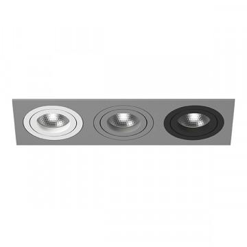 Встраиваемый светильник Lightstar Intero 16 i539060709, 3xGU10x50W, черный, серый, металл