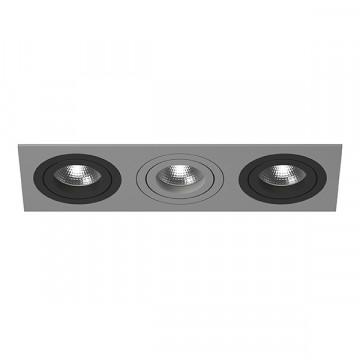Встраиваемый светильник Lightstar Intero 16 i539070907, 3xGU10x50W, черный, серый, металл