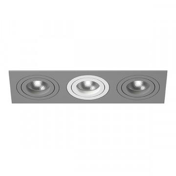 Встраиваемый светильник Lightstar Intero 16 i539090609, 3xGU10x50W, серый, металл