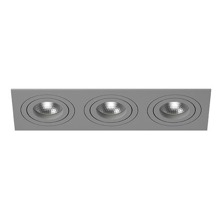 Встраиваемый светильник Lightstar Intero 16 i539090909, 3xGU10x50W, серый, металл