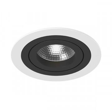 Встраиваемый светильник Lightstar Intero 16 i61607, 1xGU10x50W, черный, черно-белый, металл