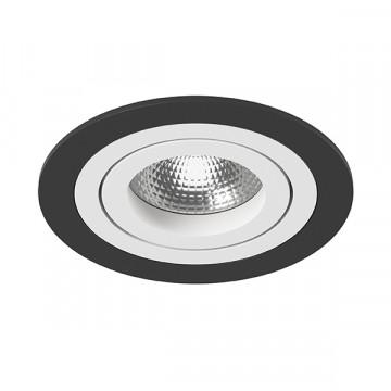 Встраиваемый светильник Lightstar Intero 16 i61706, 1xGU10x50W, черный, черно-белый, металл
