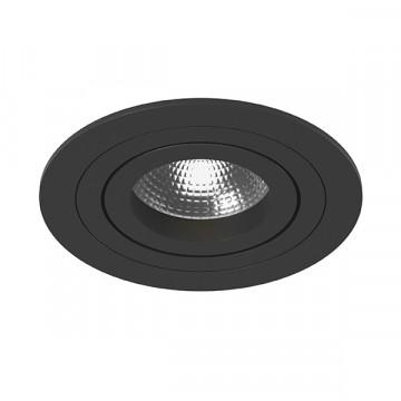 Встраиваемый светильник Lightstar Intero 16 i61707, 1xGU10x50W, черный, металл