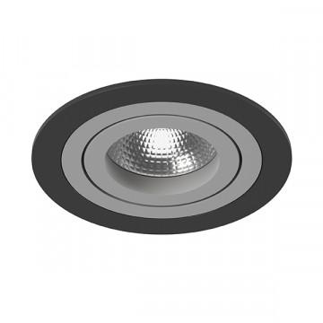 Встраиваемый светильник Lightstar Intero 16 i61709, 1xGU10x50W, черный, серый, металл