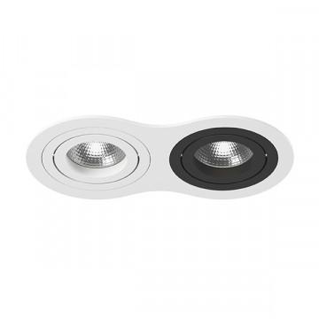 Встраиваемый светильник Lightstar Intero 16 i6260607, 2xGU10x50W, черный, черно-белый, металл
