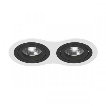 Встраиваемый светильник Lightstar Intero 16 i6260707, 2xGU10x50W, черный, черно-белый, металл