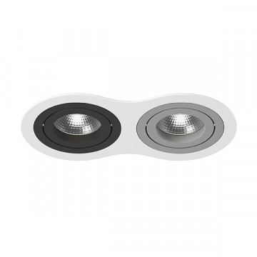 Встраиваемый светильник Lightstar Intero 16 i6260709, 2xGU10x50W, черный, серый, металл