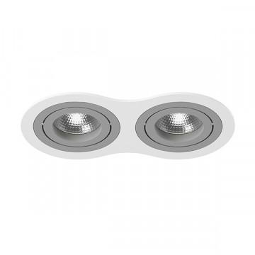 Встраиваемый светильник Lightstar Intero 16 i6260909, 2xGU10x50W, серый, металл