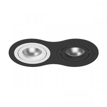 Встраиваемый светильник Lightstar Intero 16 i6270607, 2xGU10x50W, черный, черно-белый, металл