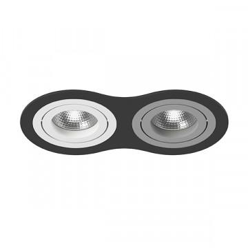 Встраиваемый светильник Lightstar Intero 16 i6270609, 2xGU10x50W, черный, серый, металл